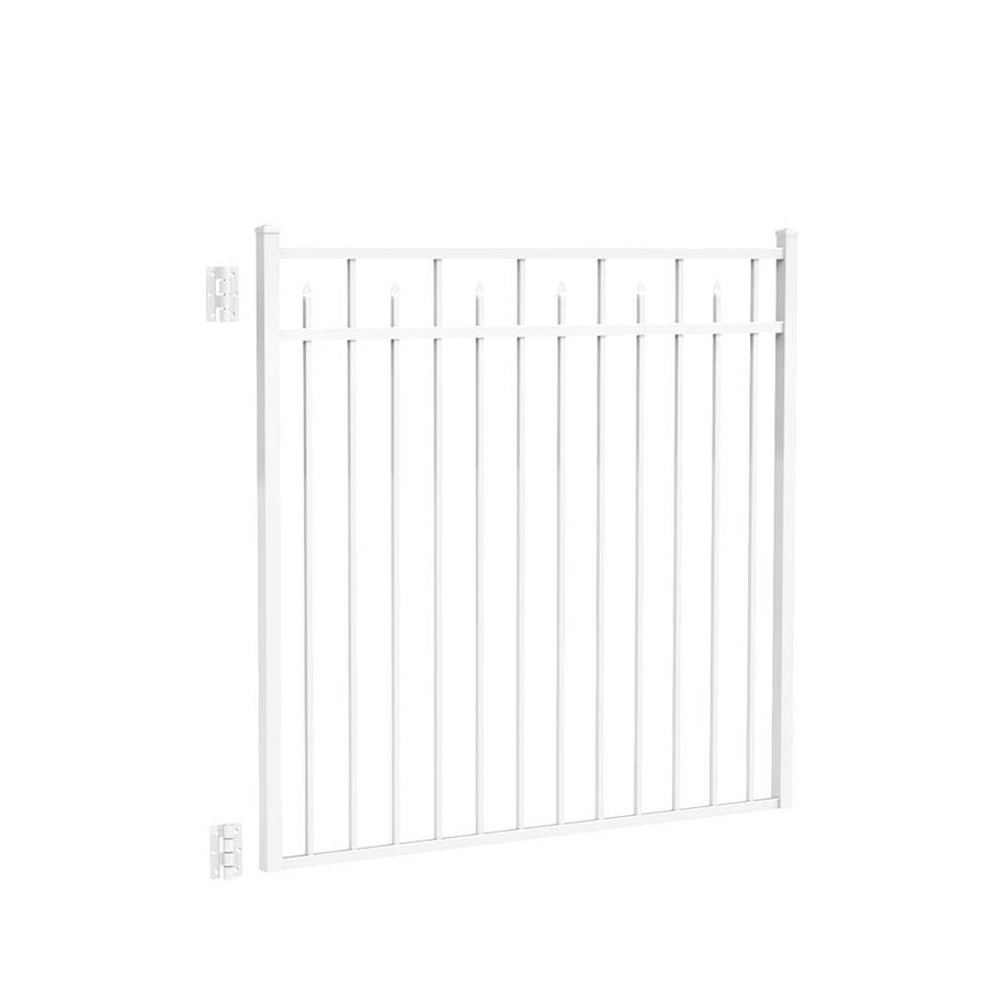 Freedom Concord White Aluminum Decorative Fence Gate (Common: 5-ft x 4.5-ft; Actual: 4.875-ft x 4.625-ft)