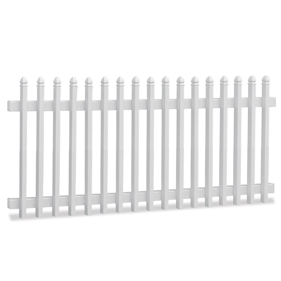 Freedom White Vinyl Fence Panel (Common: 8-ft x 4-ft; Actual: 7.7-ft x 3.84-ft)