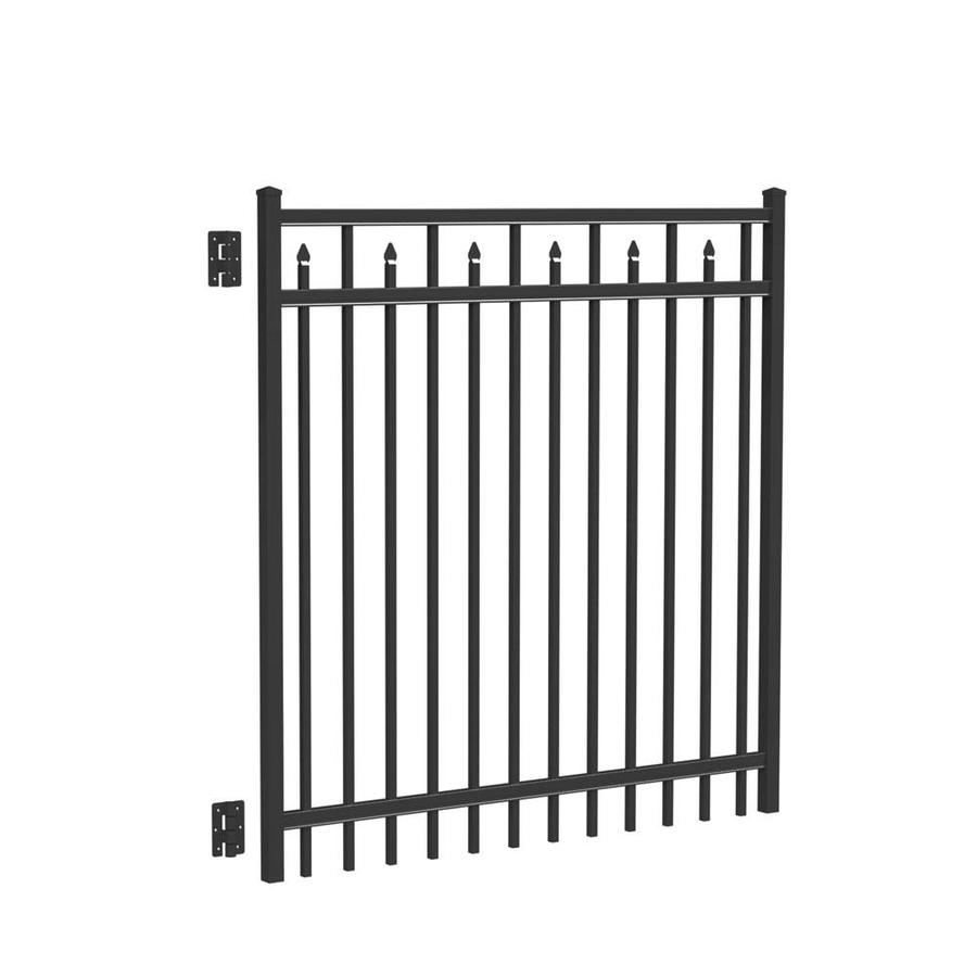Freedom Concord Black Aluminum Decorative Fence Gate (Common: 5-ft x 5-ft; Actual: 4.875-ft x 5.04-ft)