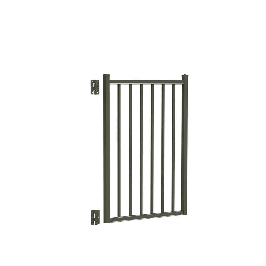 Freedom Easton Pewter Aluminum Decorative Fence Gate (Common: 3-ft x 4-ft; Actual: 2.875-ft x 4.16-ft)