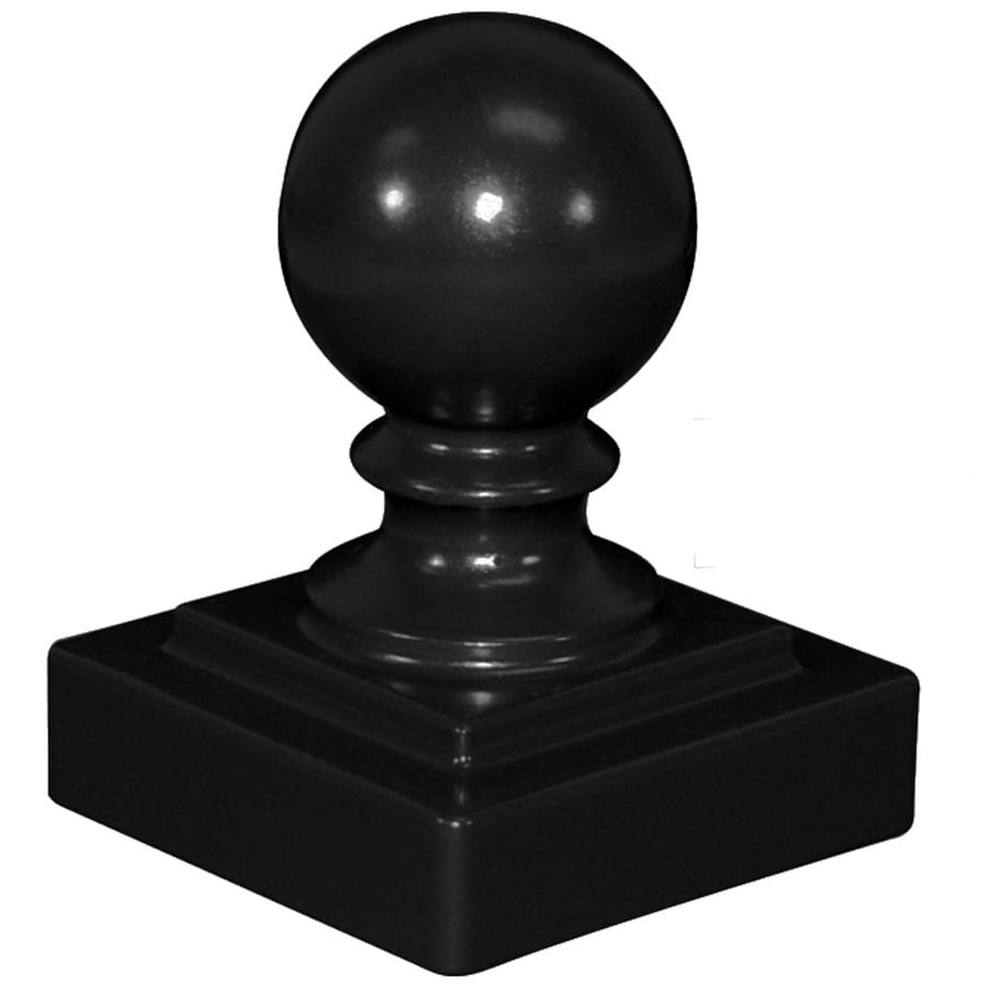 Freedom Heavy-Duty Black Aluminum Decorative Metal Fence Post Cap (Fits Common Post Measurement: 2-1/2-in; Actual: 2.75-in x 2.75-in)