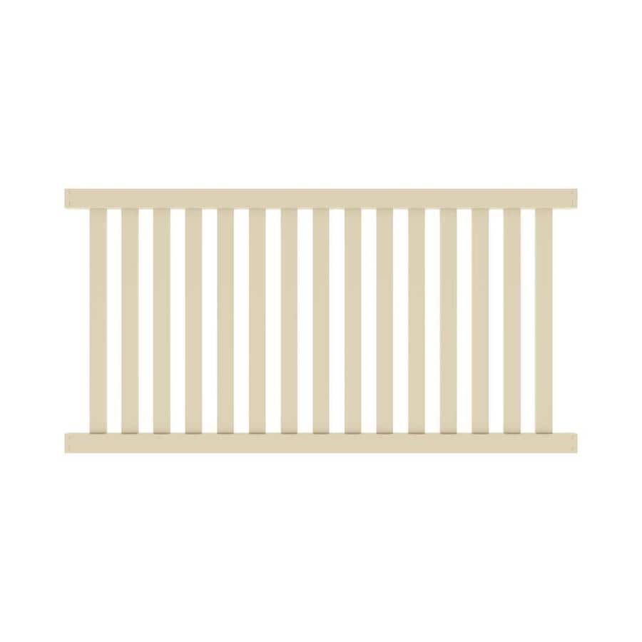 Freedom Ready-To-Assemble Terex Sand Vinyl Fence Panel (Common: 8-ft x 4-ft; Actual: 7.56-ft x 4.04-ft)