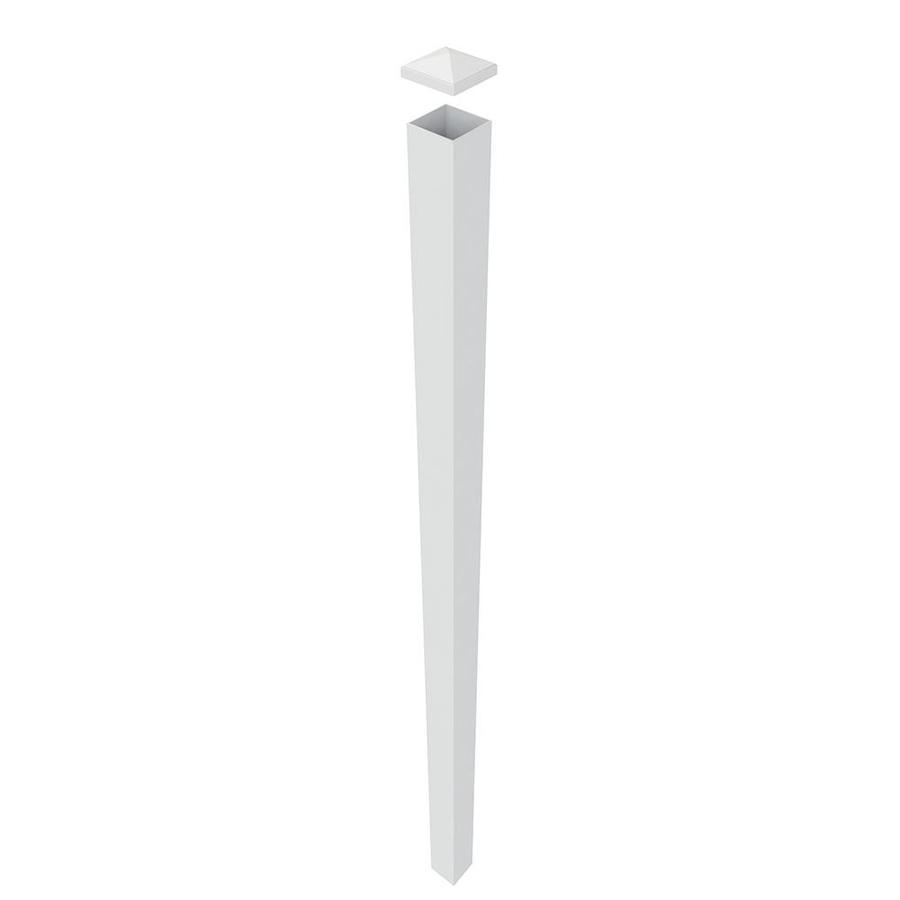 Freedom White Aluminum Aluminum Fence Blank Post (Common: 4-in x 4-in x 9-ft; Actual: 4-in x 4-in x 8.83-ft)