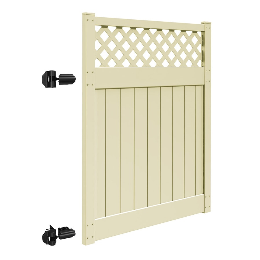 Freedom Bradford Sand Vinyl Semi-Privacy Fence Gate (Common: 5-ft x 6-ft; Actual: 4.83-ft x 6-ft)