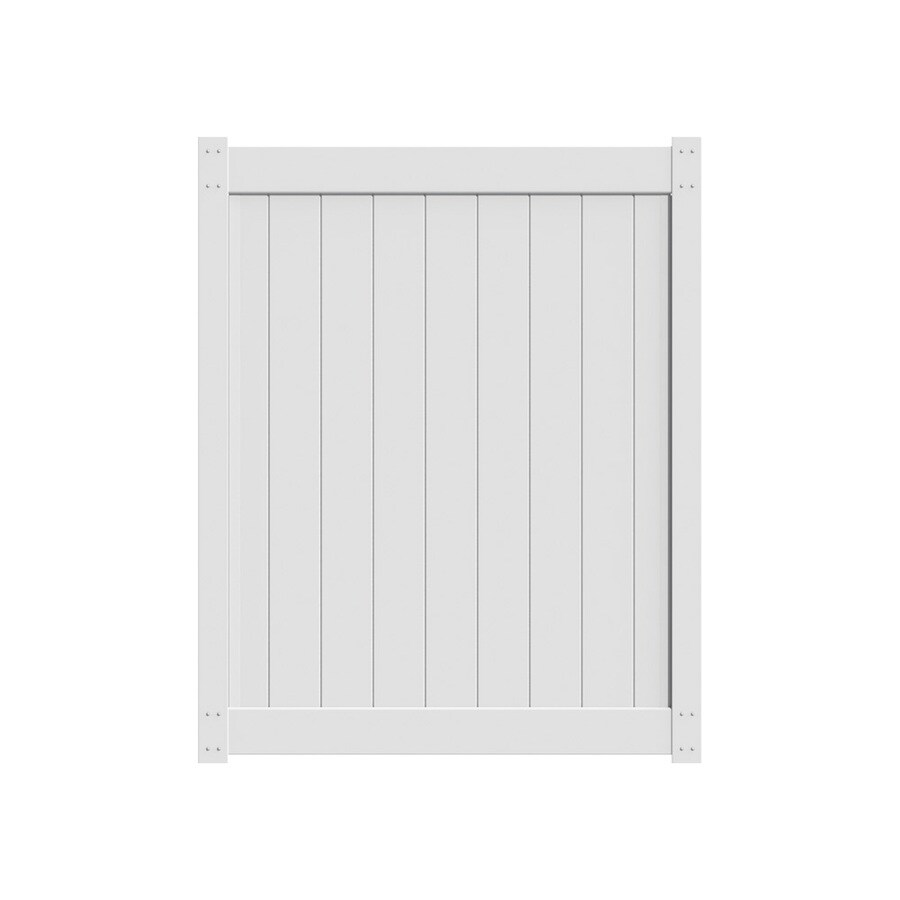 Freedom White Vinyl Privacy Fence Gate (Common: 5-ft x 6-ft; Actual: 4.83-ft x 5.83-ft)