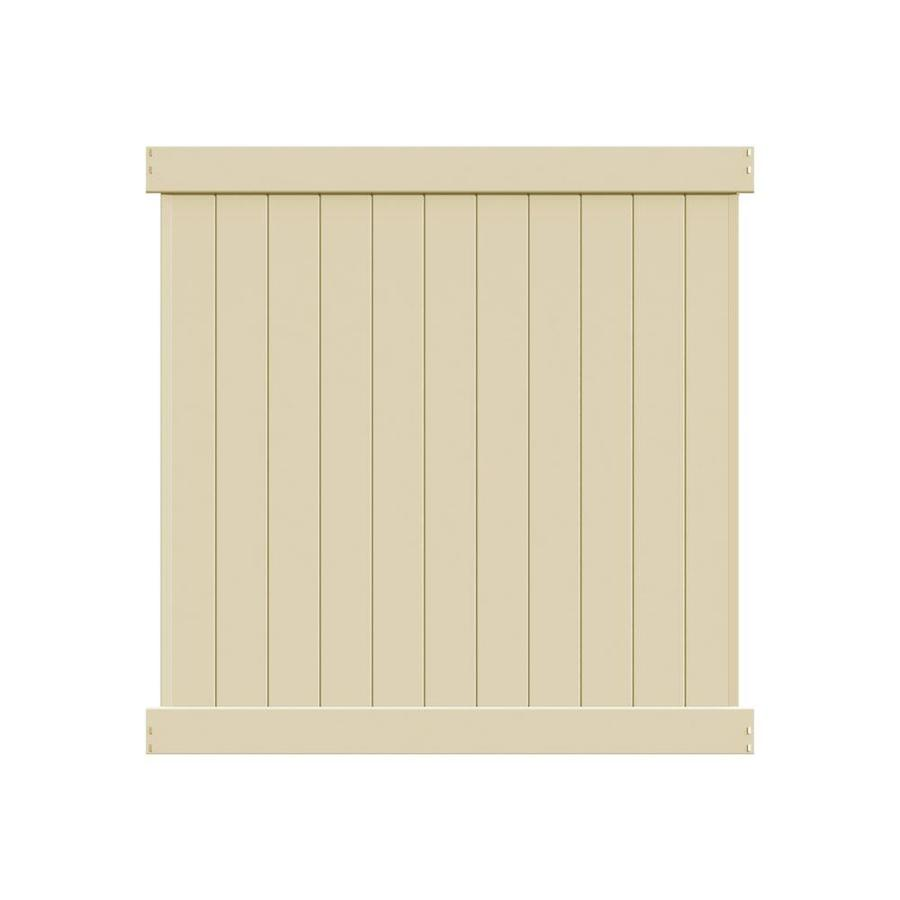 Freedom Ready-To-Assemble Hampton Sand Vinyl Privacy Fence Panel (Common: 6-ft x 6-ft; Actual: 5.56-ft x 5.83-ft)