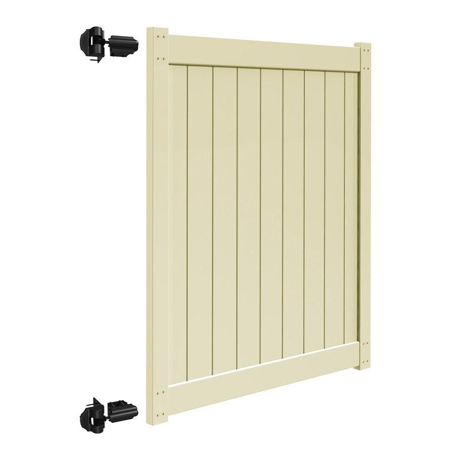 Freedom Sand Vinyl Privacy Fence Gate (Common: 5-ft x 6-ft; Actual: 4.83-ft x 5.83-ft)