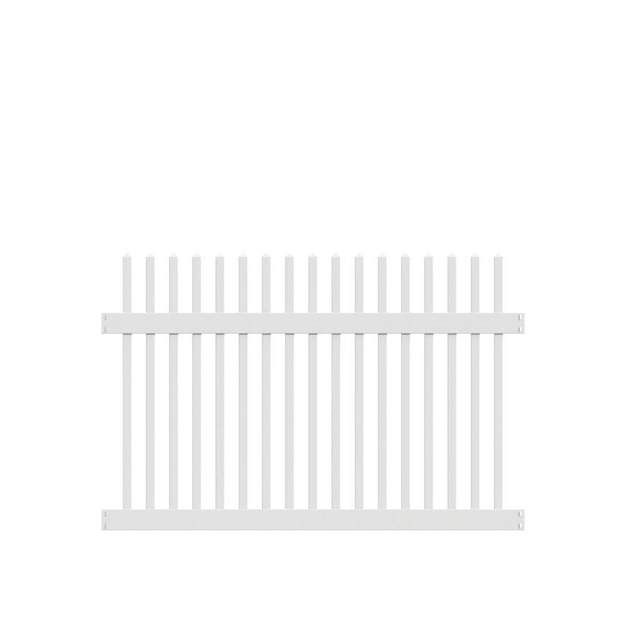 Freedom Ready-To-Assemble Carlisle Straight White Vinyl Fence Panel (Common: 6-ft x 4-ft; Actual: 5.64-ft x 3.83-ft)