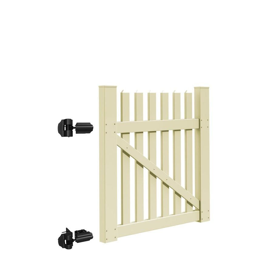 Freedom Coventry Sand Vinyl Fence Gate (Common: 4-ft x 4-ft; Actual: 3.83-ft x 3.83-ft)