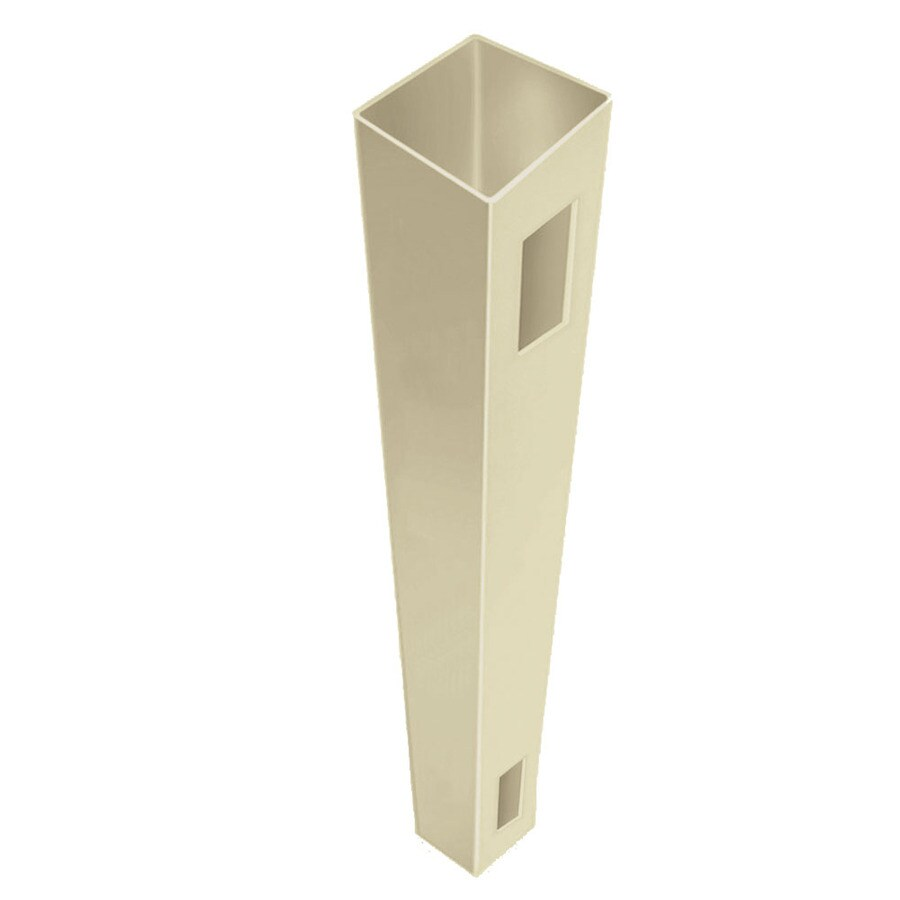 Freedom Ready-To-Assemble Sand Vinyl Fence End Post (Common: 4-in x 4-in x 6-ft; Actual: 4-in x 4-in x 6-ft)