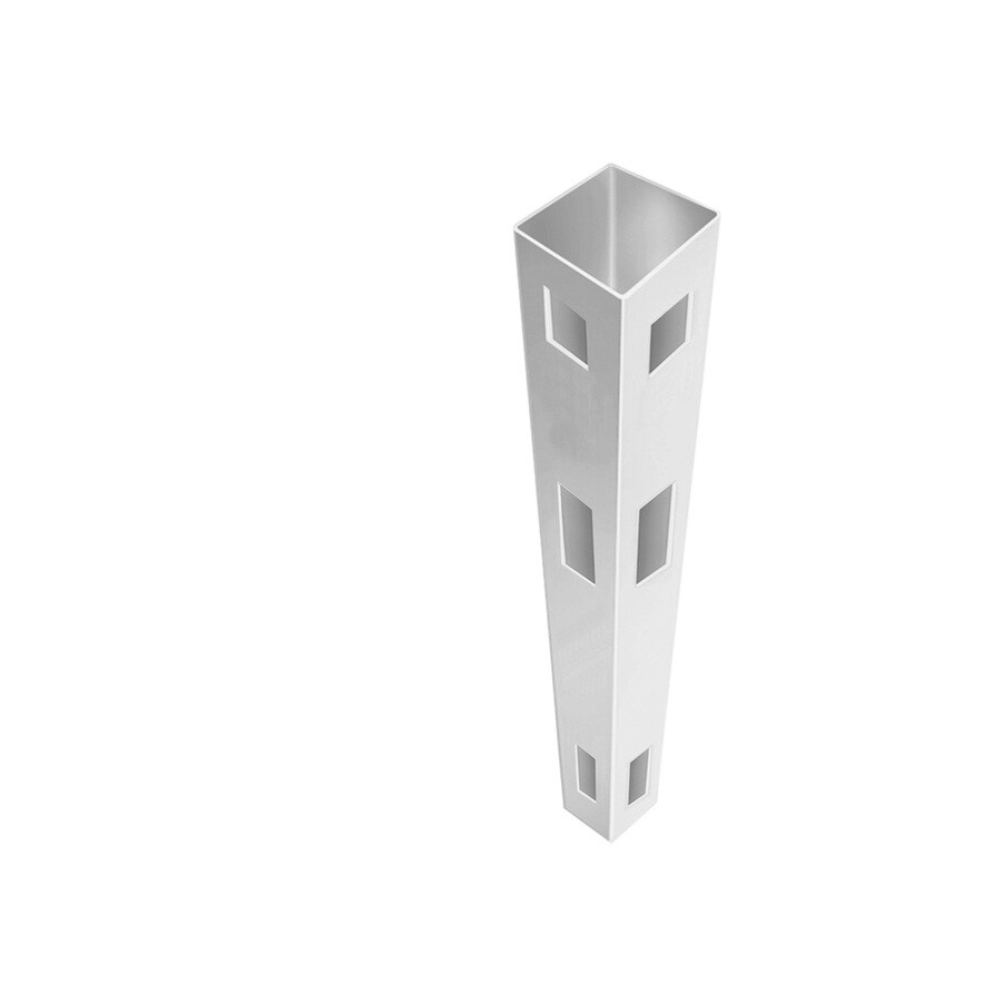 Freedom Ready-To-Assemble White Vinyl Fence Corner Post (Common: 5-in x 5-in x 8-1/2-ft; Actual: 5-in x 5-in x 8.5-ft)