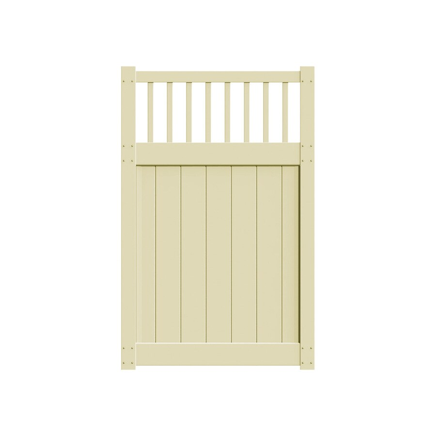 Freedom Bexley Sand Vinyl Fence Gate (Common: 4-ft x 6-ft; Actual: 3.83-ft x 5.83-ft)