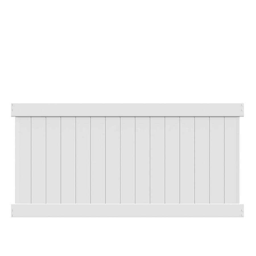 Freedom Ready-To-Assemble Bolton White Vinyl Privacy Fence Panel (Common: 8-ft x 4-ft; Actual: 7.56-ft x 3.83-ft)