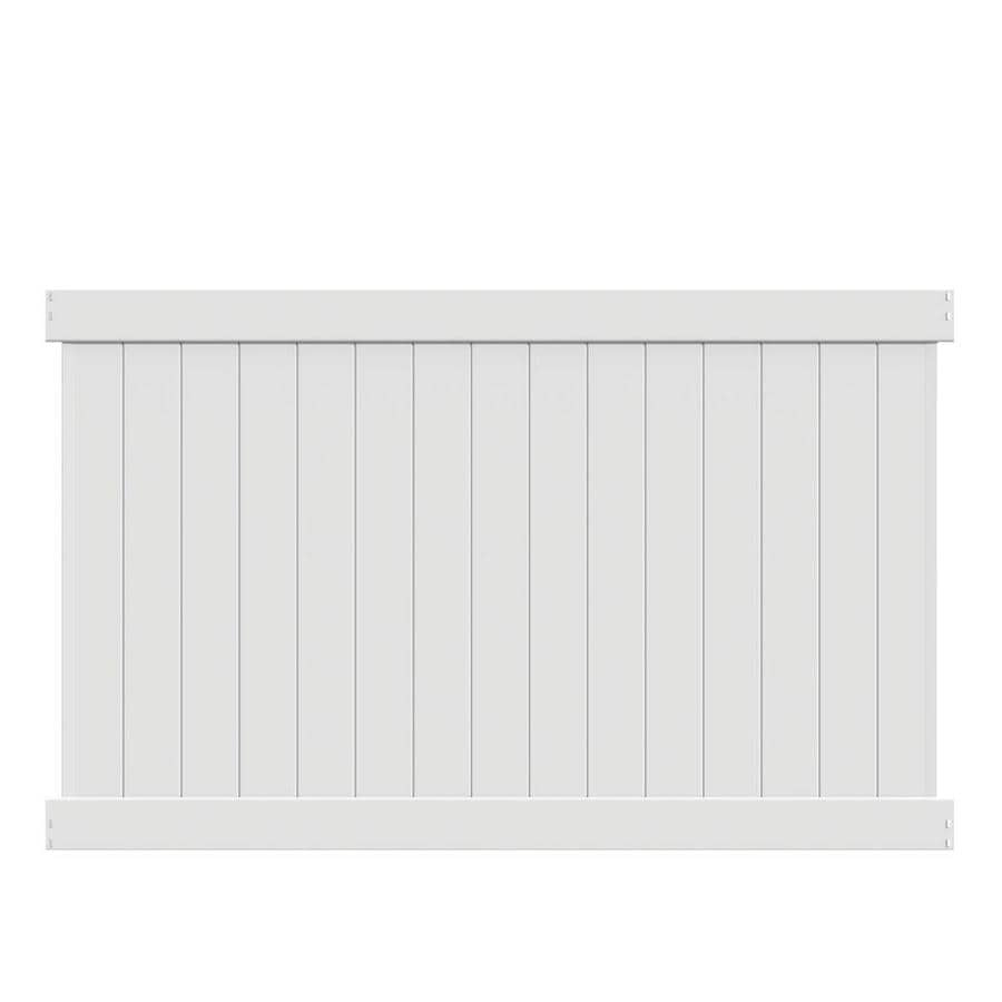 Freedom Ready-To-Assemble Bolton White Vinyl Privacy Fence Panel (Common: 8-ft x 5-ft; Actual: 7.56-ft x 4.83-ft)