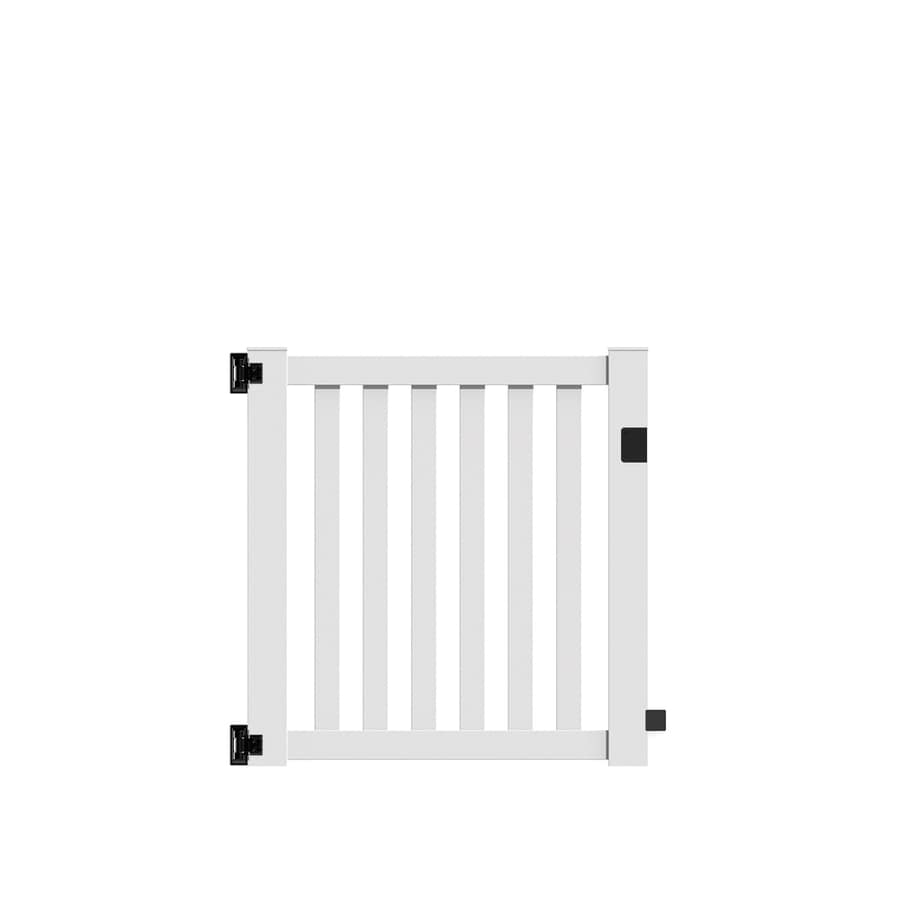 Freedom Terex White Vinyl Fence Gate (Common: 4-ft x 4-ft; Actual: 3.83-ft x 4.04-ft)