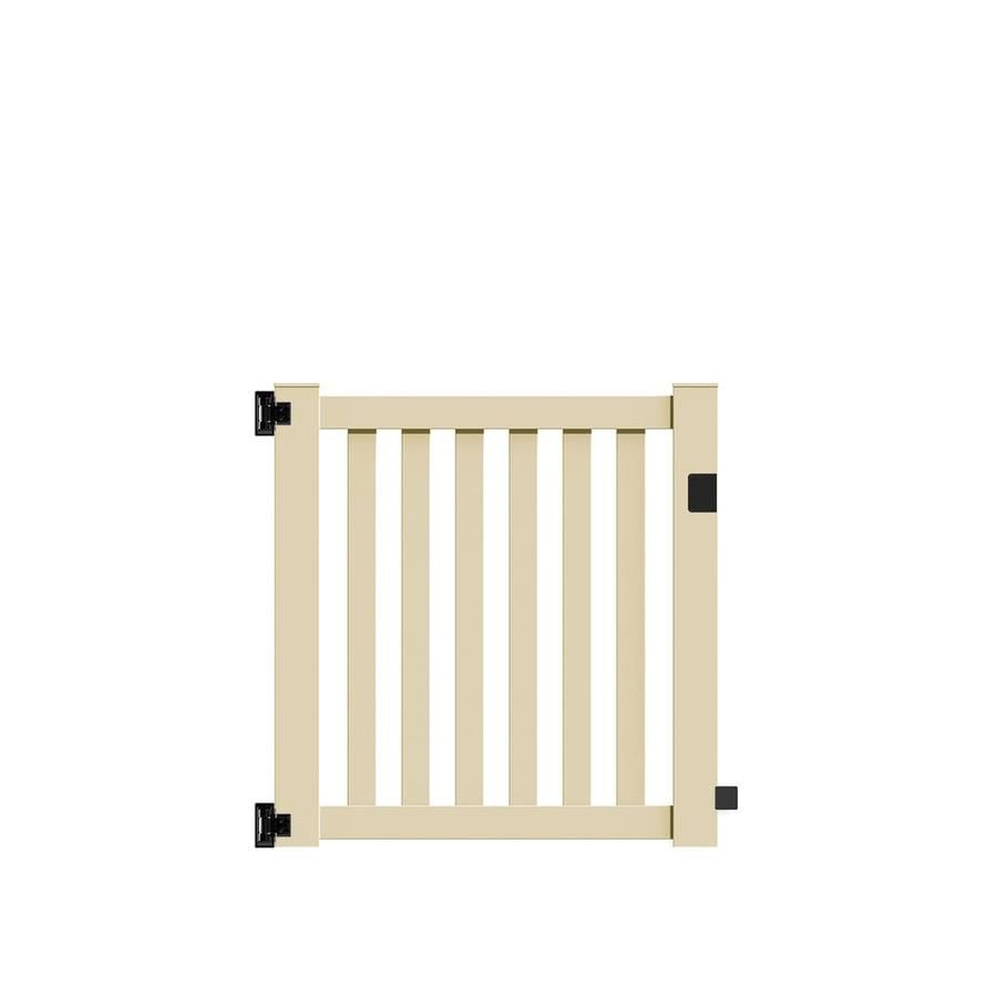 Freedom Terex Sand Vinyl Fence Gate (Common: 4-ft x 4-ft; Actual: 3.83-ft x 4.04-ft)