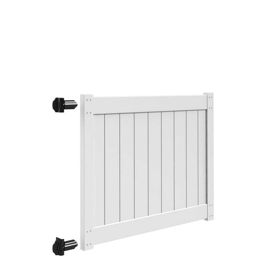 Freedom White Vinyl Privacy Fence Gate (Common: 5-ft x 4-ft; Actual: 4.83-ft x 4-ft)