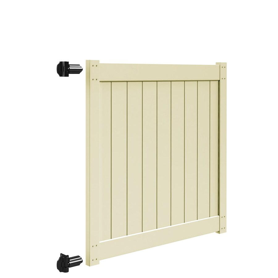 Freedom Sand Vinyl Privacy Fence Gate (Common: 5-ft x 5-ft; Actual: 4.83-ft x 5-ft)