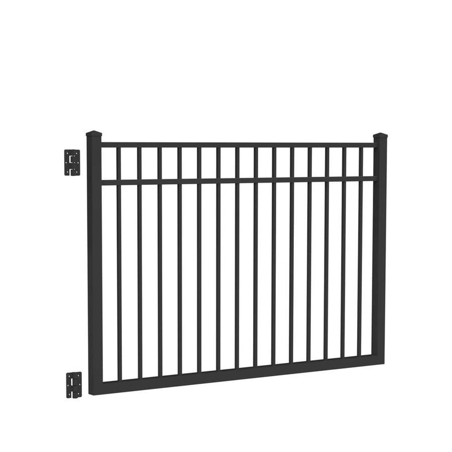 Freedom New Haven Black Aluminum Decorative Fence Gate (Common: 6-ft x 4-ft; Actual: 5.875-ft x 4.04-ft)