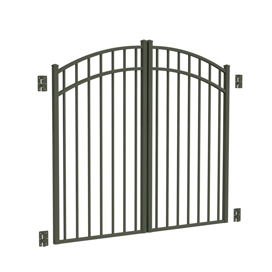 Freedom Pewter Aluminum Driveway Gate (Common: 72-in; Actual: 69-in)