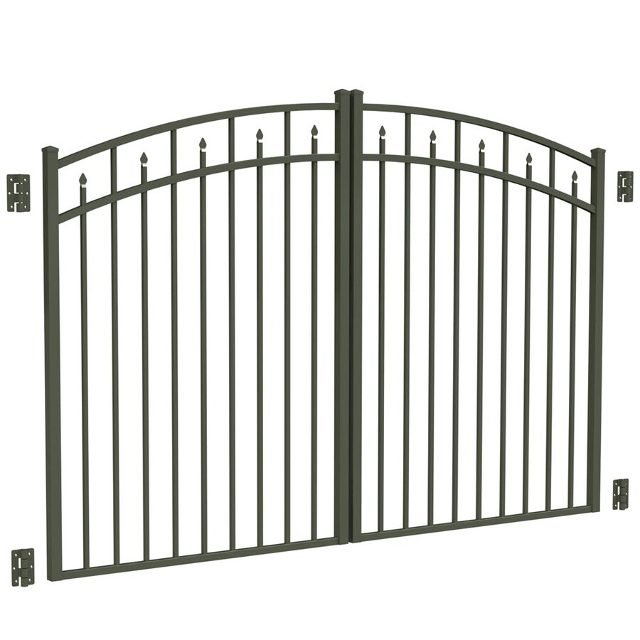 Freedom Pewter Aluminum Driveway Gate (Common: 96-in; Actual: 93-in)