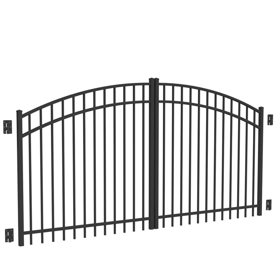 Shop Freedom Black Aluminum Driveway Gate Common 120 In