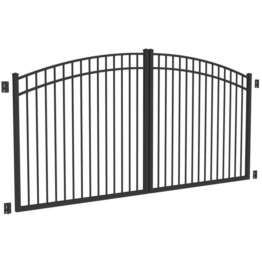 Shop Freedom Black Aluminum Driveway Gate Common 144 In