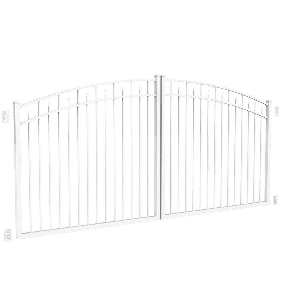 Freedom White Aluminum Driveway Gate (Common: 144-in; Actual: 141-in)