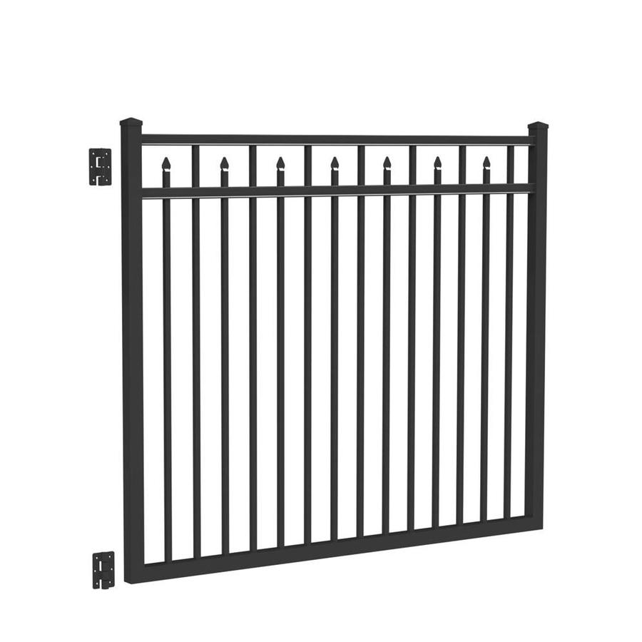 Freedom Concord Black Aluminum Decorative Fence Gate (Common: 6-ft x 5-ft; Actual: 5.875-ft x 5.04-ft)
