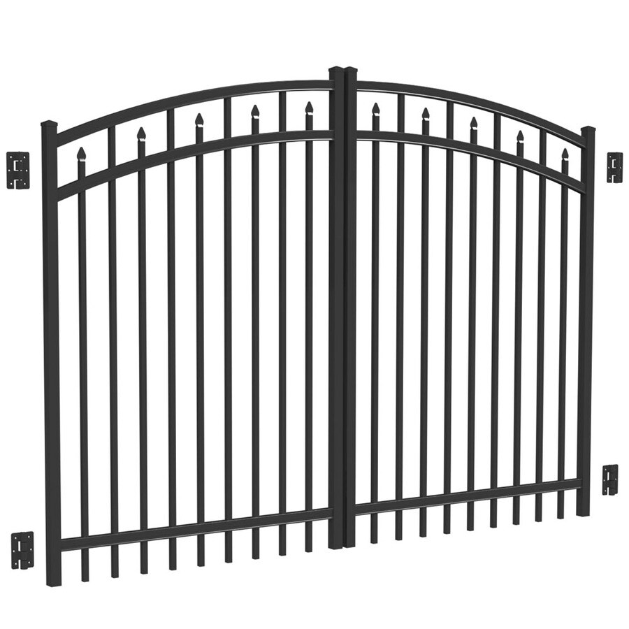 Freedom Black Aluminum Driveway Gate (Common: 96-in; Actual: 93-in)