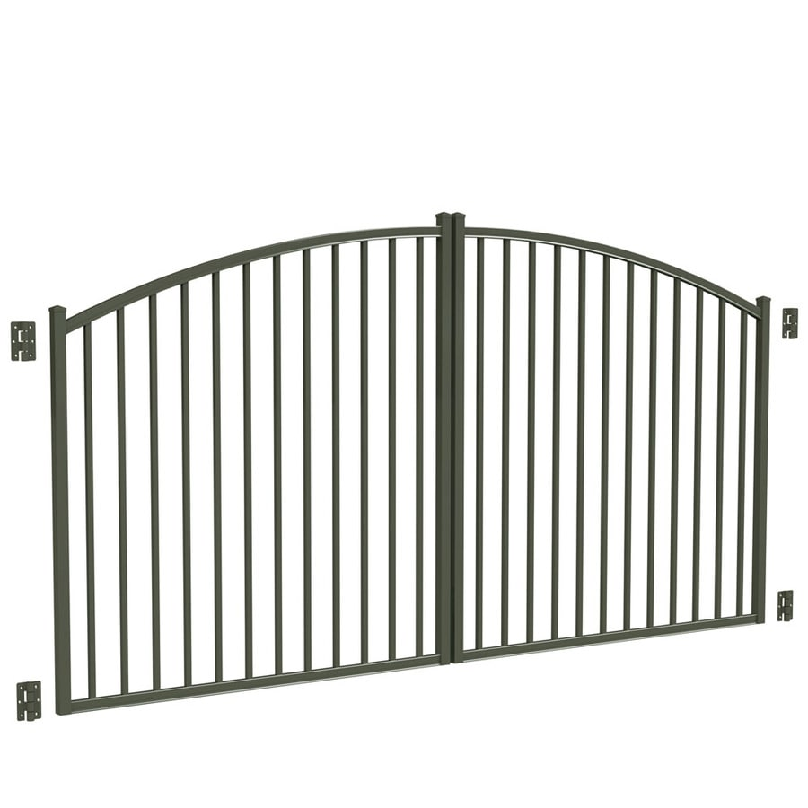 Freedom Pewter Aluminum Driveway Gate (Common: 120-in; Actual: 117-in)