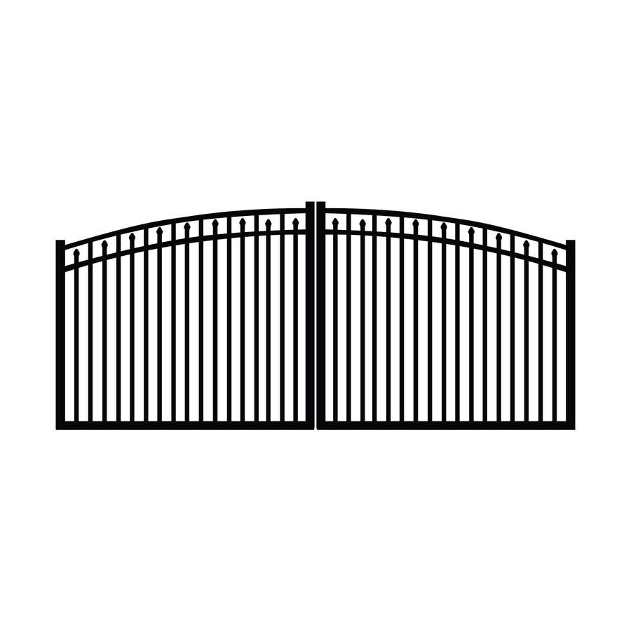 FREEDOM 14-ft Black Aluminum Driveway Gate