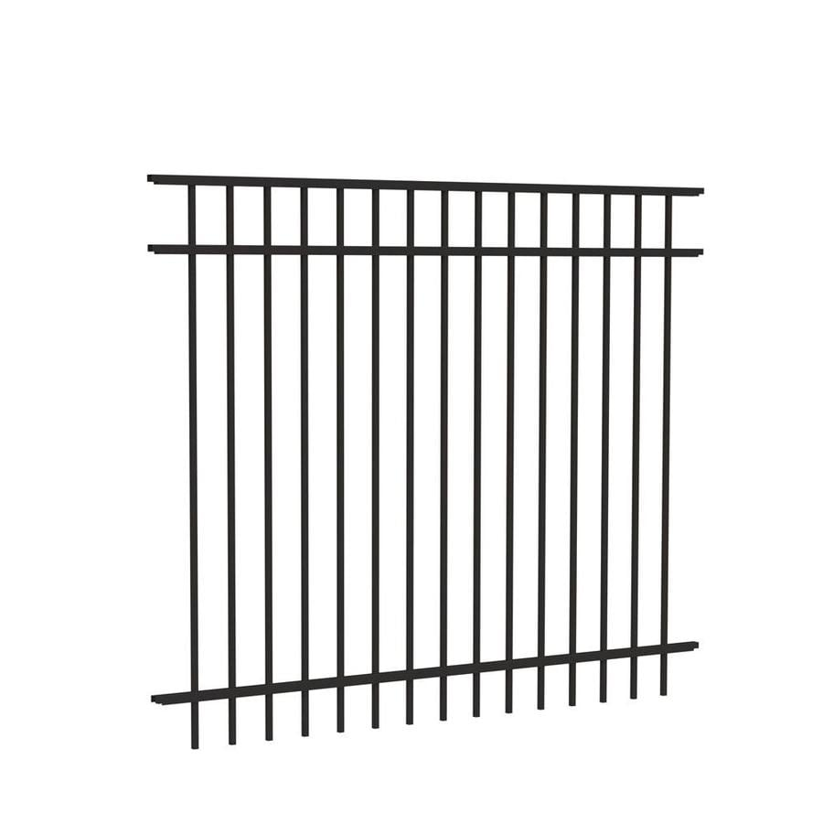 Freedom Standard New Haven Black Aluminum Decorative Metal Fence Panel (Common: 6-ft x 5-ft; Actual: 6.026-ft x 4.91-ft)
