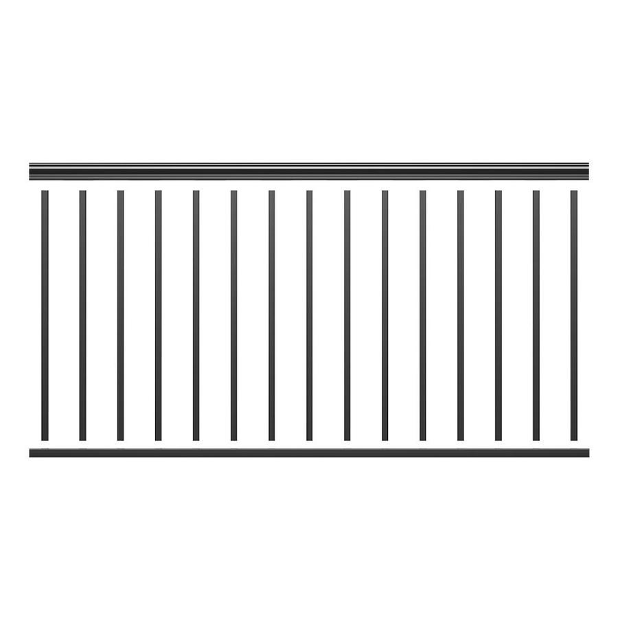 Freedom Cambridge 42-in Matte Black Aluminum Porch Railing Kit