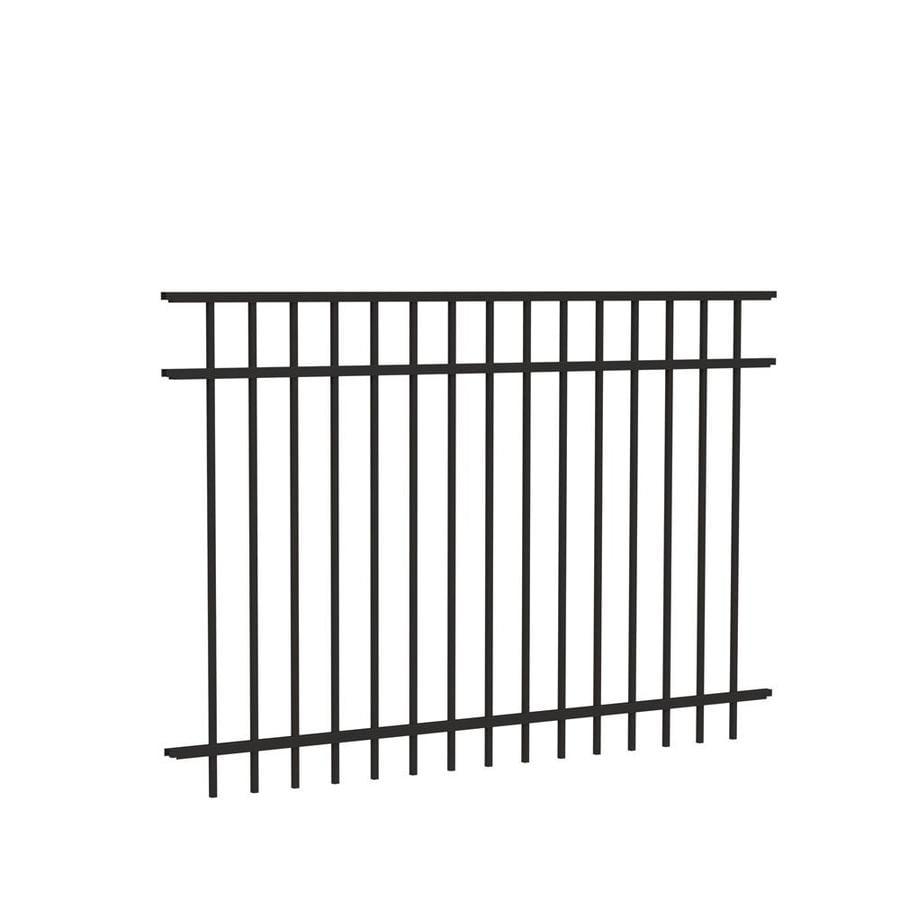 Freedom Ready-To-Assemble New Haven Black Aluminum Decorative Metal Fence Panel (Common: 6-ft x 4-ft; Actual: 6.02-ft x 3.91-ft)