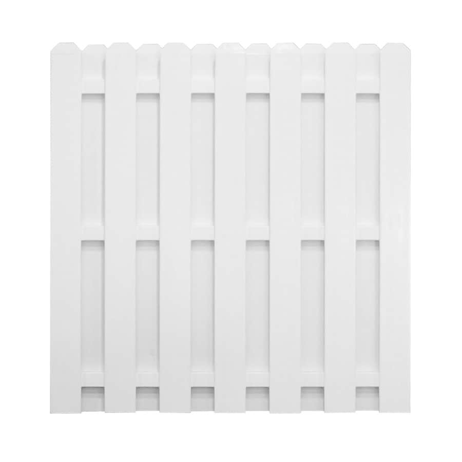 Shop Freedom Pre Assembled Shadowbox White Vinyl Privacy