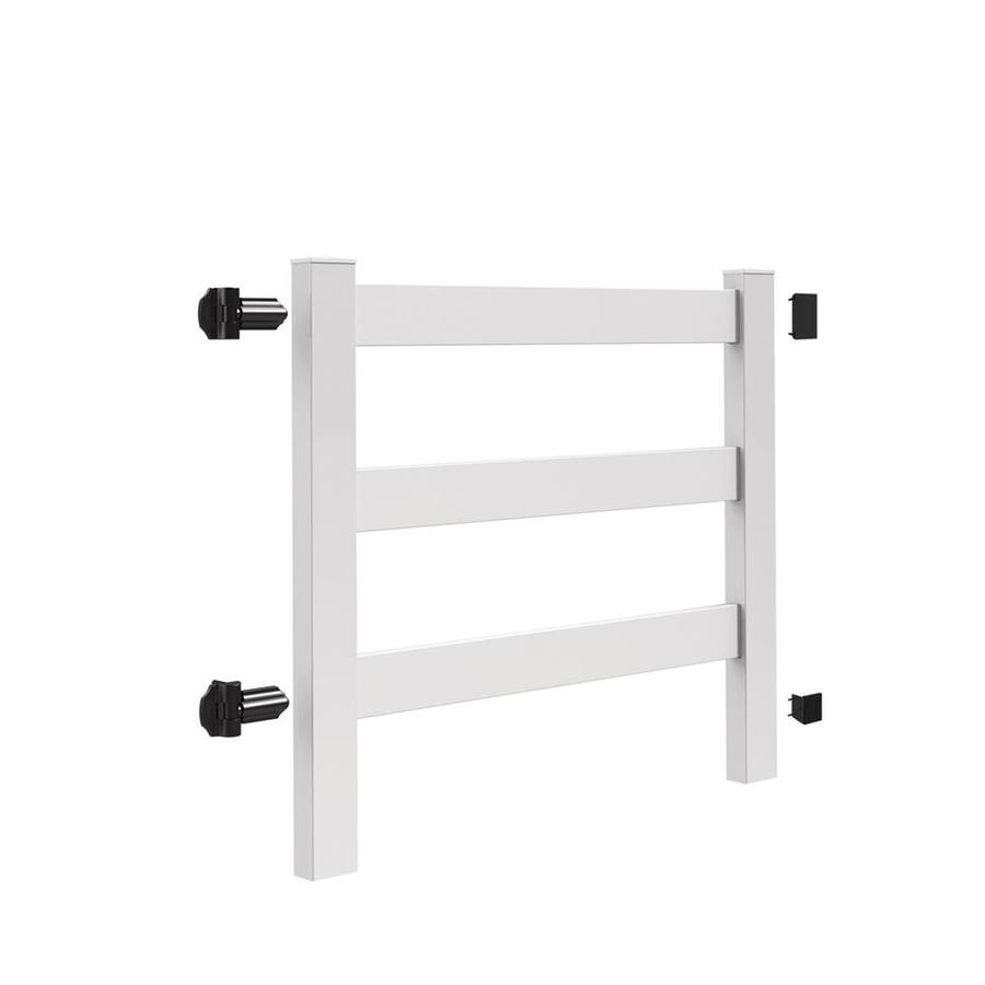 Freedom Post and Rail White Vinyl Fence Gate (Common: 5-ft x 4.5-ft; Actual: 4.83-ft x 4.41-ft)