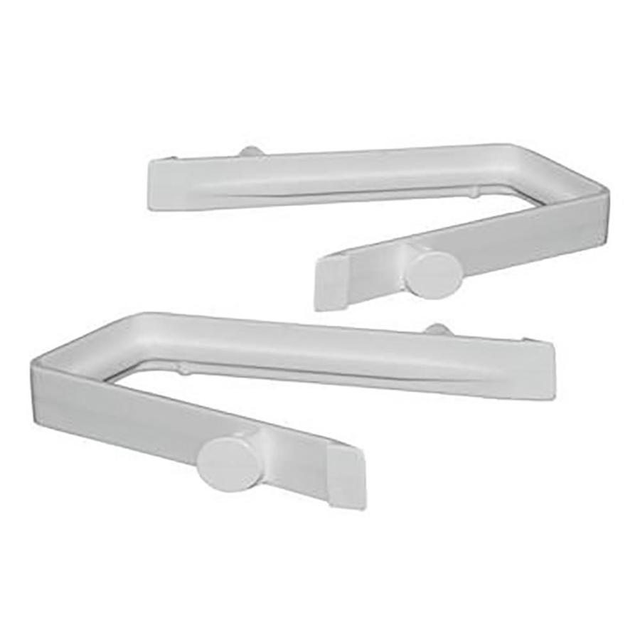 Freedom Ready-to-Assemble 2-Pack White Vinyl Fence Rail Clips