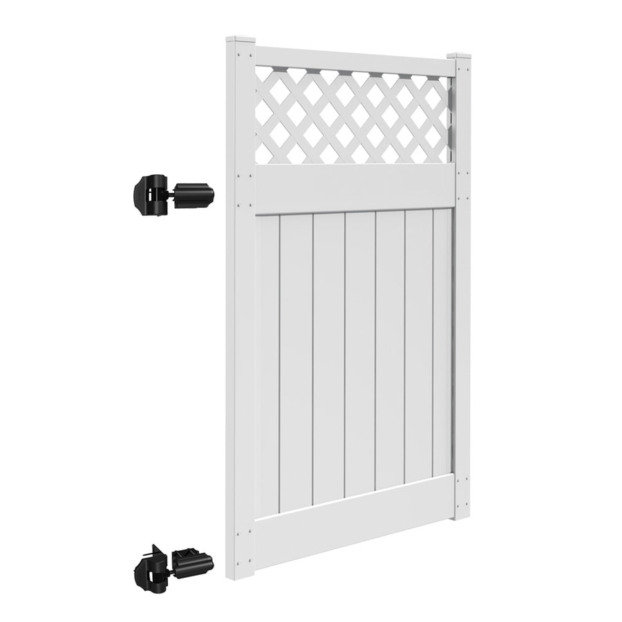 Freedom Bradford White Vinyl Semi-Privacy Fence Gate Kit (Common: 4-ft x 6-ft; Actual: 3.83-ft x 6-ft)