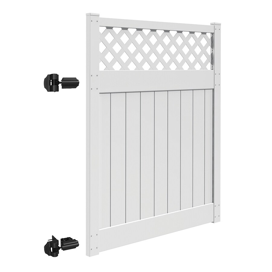 Freedom Bradford White Vinyl Semi-Privacy Fence Gate Kit (Common: 5-ft x 6-ft; Actual: 4.83-ft x 6-ft)