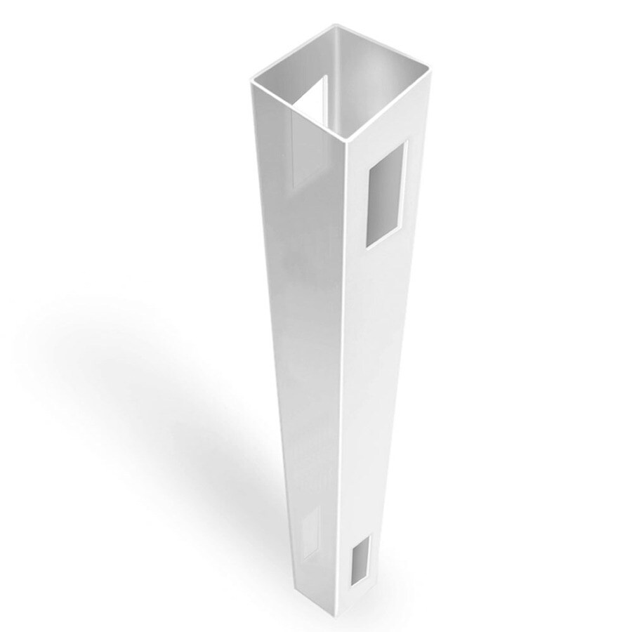 Freedom Ready-to-Assemble White Vinyl Fence Line Post (Common: 5-in x 5-in x 8-ft; Actual: 5-in x 5-in x 8-ft)