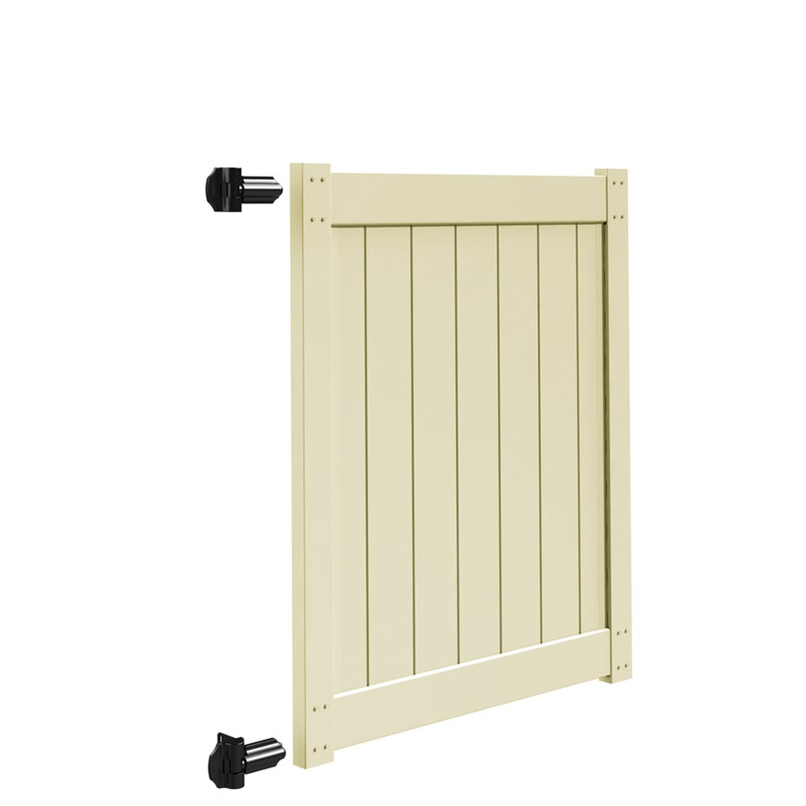 Freedom Sand Vinyl Privacy Fence Gate Kit (Common: 4-ft x 5-ft; Actual: 3.83-ft x 5-ft)