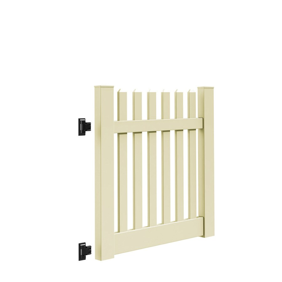 Freedom Lennox Sand Vinyl Fence Gate Kit (Common: 4-ft x 4-ft; Actual: 3.83-ft x 4-ft)