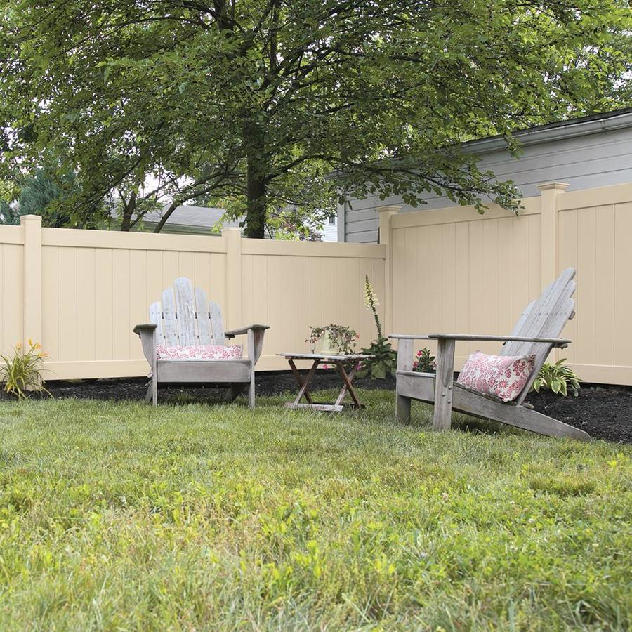 Freedom Ready-To-Assemble Hampton Sand Vinyl Privacy Fence Panel (Common: 6-ft x 5-ft; Actual: 5.56-ft x 4.83-ft)