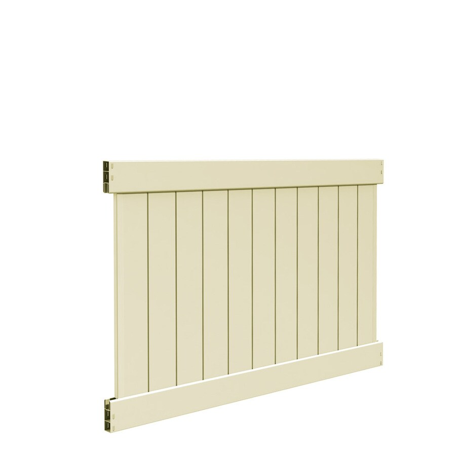 Freedom Ready-To-Assemble Hampton Sand Vinyl Privacy Fence Panel (Common: 6-ft x 4-ft; Actual: 5.56-ft x 3.83-ft)