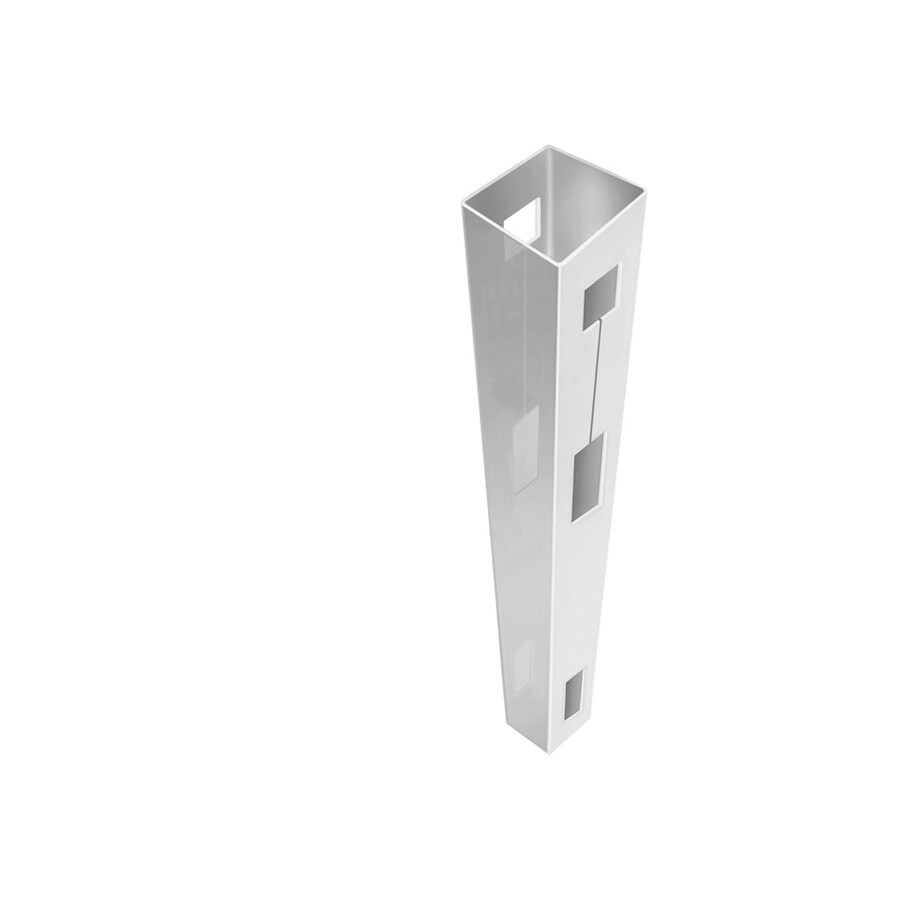 Freedom Ready-to-Assemble White Vinyl Fence Line Post (Common: 5-in x 5-in x 8-1/2-ft; Actual: 5-in x 5-in x 8.5-ft)