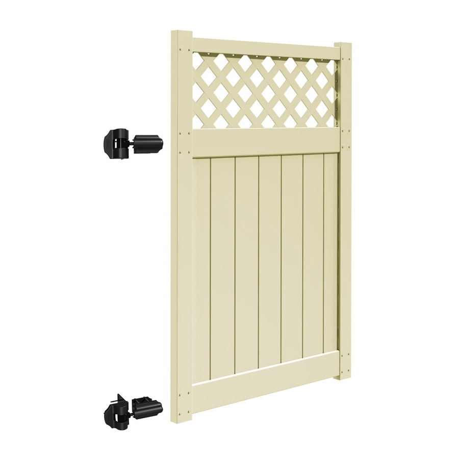 Freedom Freeport Sand Vinyl Semi-Privacy Fence Gate Kit (Common: 4-ft x 6-ft; Actual: 3.83-ft x 5.83-ft)