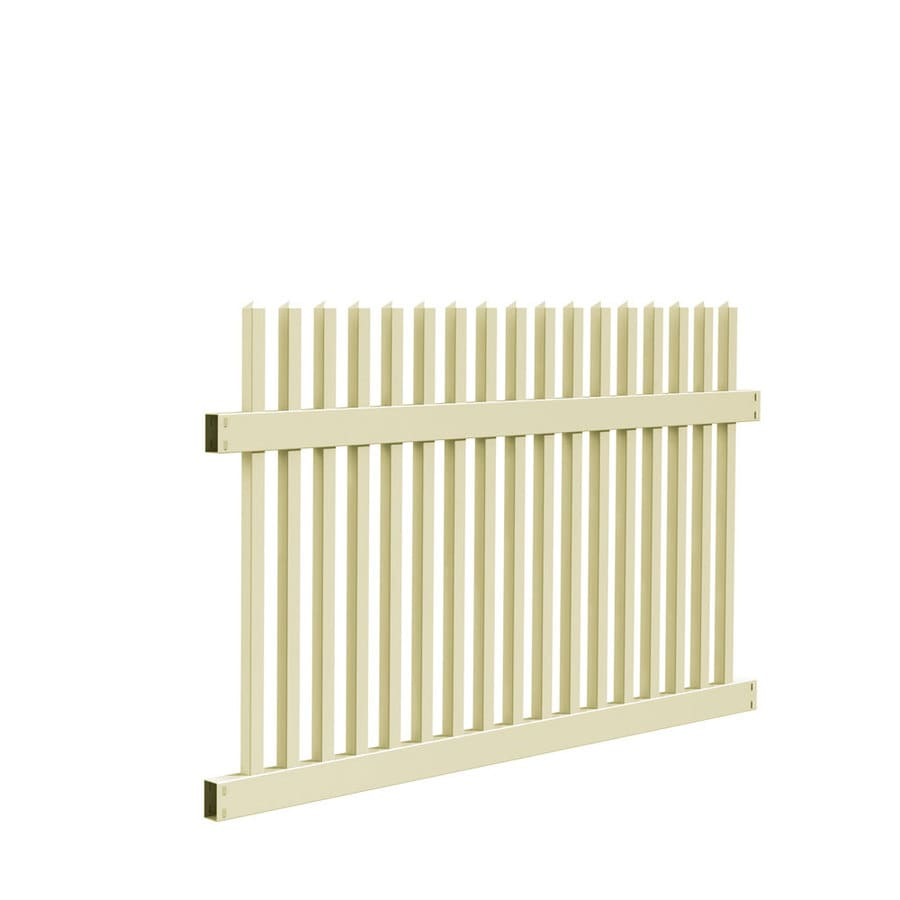 Freedom Ready-To-Assemble Carlisle Sand Vinyl Fence Panel (Common: 6-ft x 4-ft; Actual: 5.64-ft x 3.83-ft)