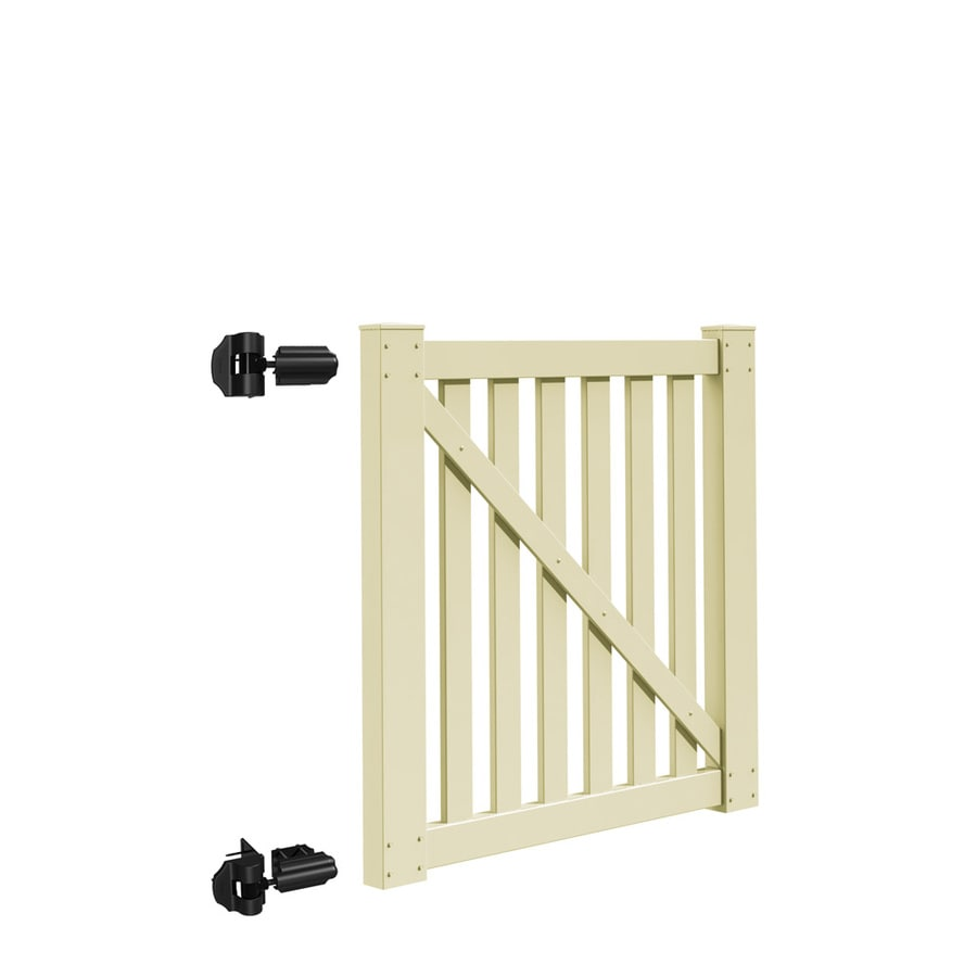 Freedom Durham Sand Vinyl Fence Gate Kit (Common: 4-ft x 4-ft; Actual: 3.83-ft x 3.83-ft)