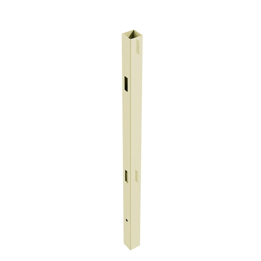 Freedom Ready-to-Assemble Sand Vinyl Fence Line Post (Common: 5-in x 5-in x 8-ft; Actual: 5-in x 5-in x 8-ft)